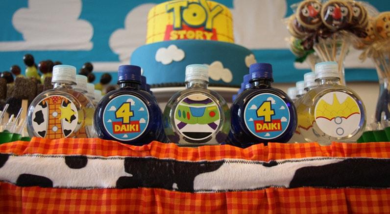 Potinhos decorados para festa tema toy story
