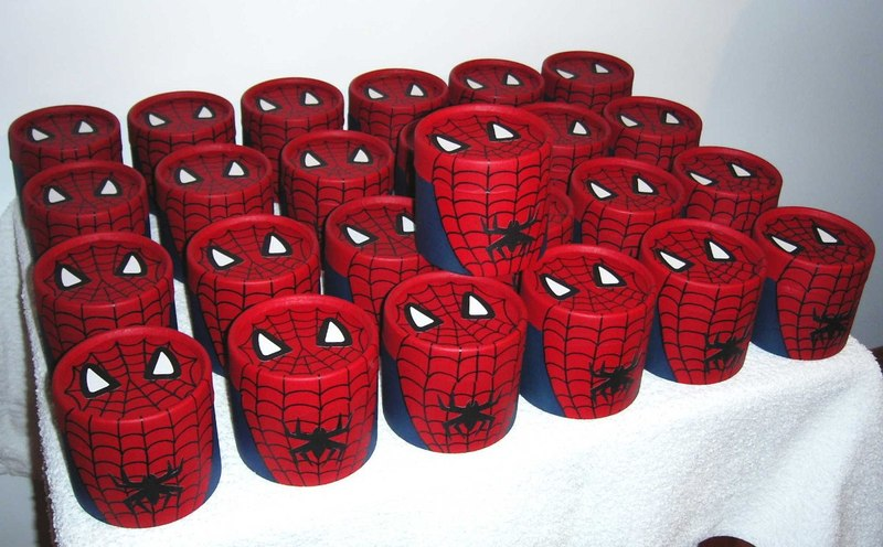 Copinhos decorados do Homem Aranha