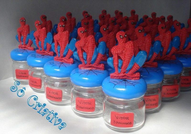 potinhos de lembrança spiderman
