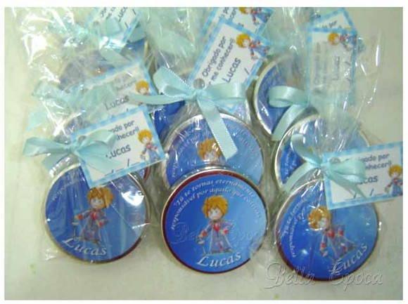 Potinhos de bala decorados do pequeno príncipe