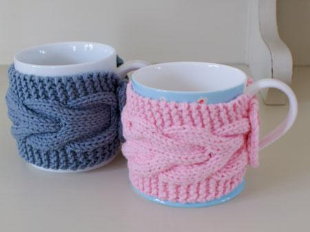 Xícaras modernas revestidas com crochê