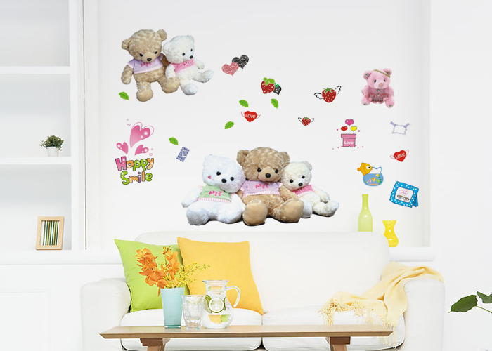 Ursinhos queridos na decoração de quarto infatil