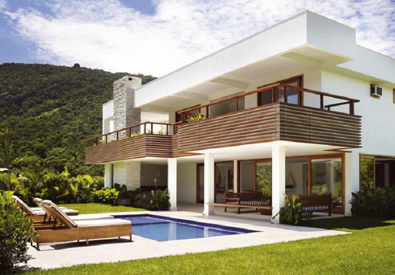 25 modelos de telhado embutido casas sem telhados for Casa minimalista grande