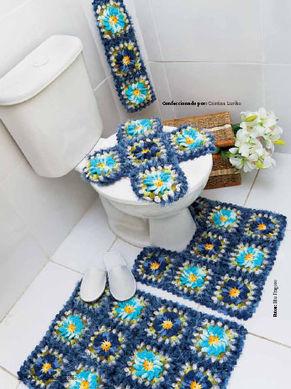 assento de vaso decorado com tricô