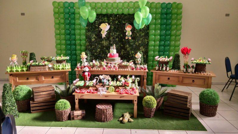 Decoração do peter Pan e da Sininho para aniversário