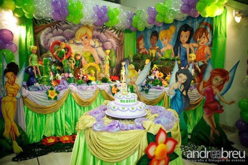 decoração de festa de aniversário da Sininho