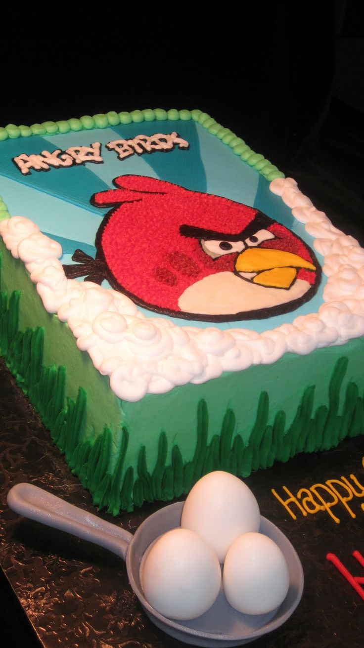 torta de aniversário dos angry birds