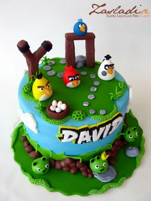 torta de aniversário personalizada dos Angry Birds