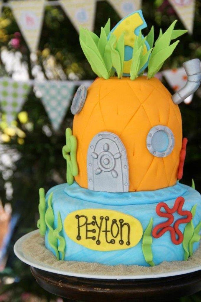 Bob Esponja bolo de aniversário