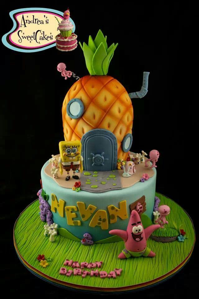 bolo do personagem bob esponja