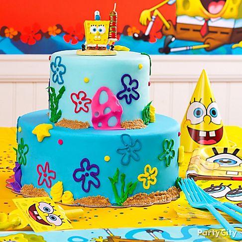 Bolo decorativo de 2 níveis spongebob squarepants