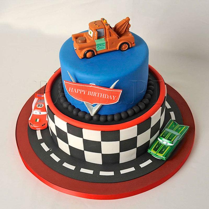 bolo decorado de 2 níveis