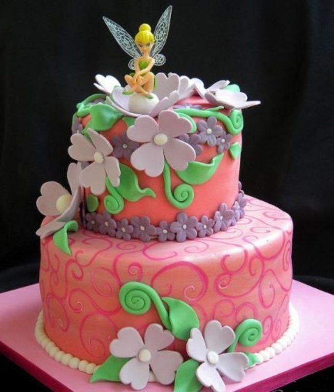 Bolo de aniversário Tinker Bell