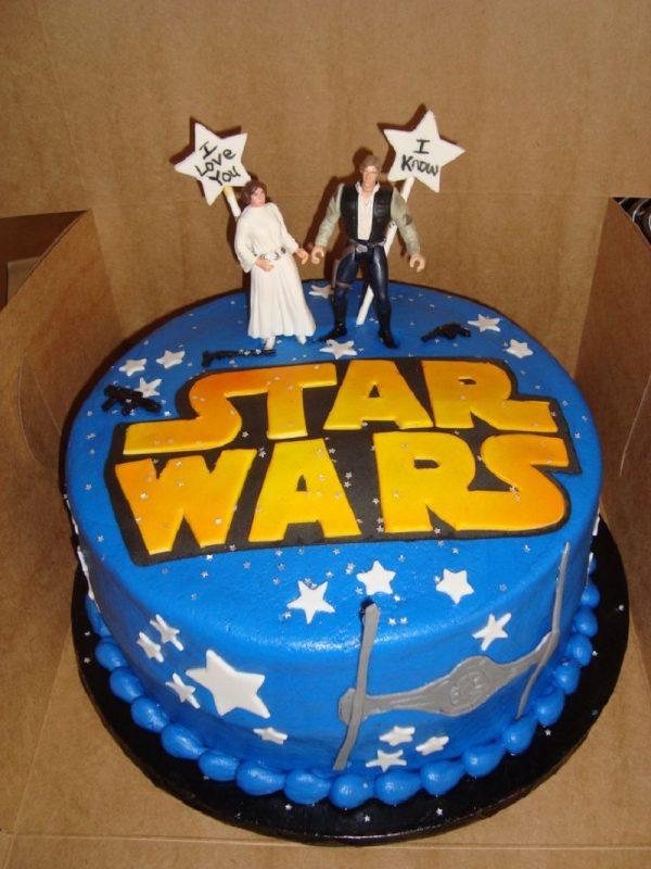 Bolo de Han e Léia de star wars