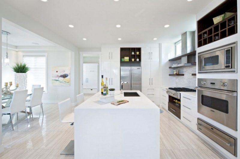 Cozinha branca decorada