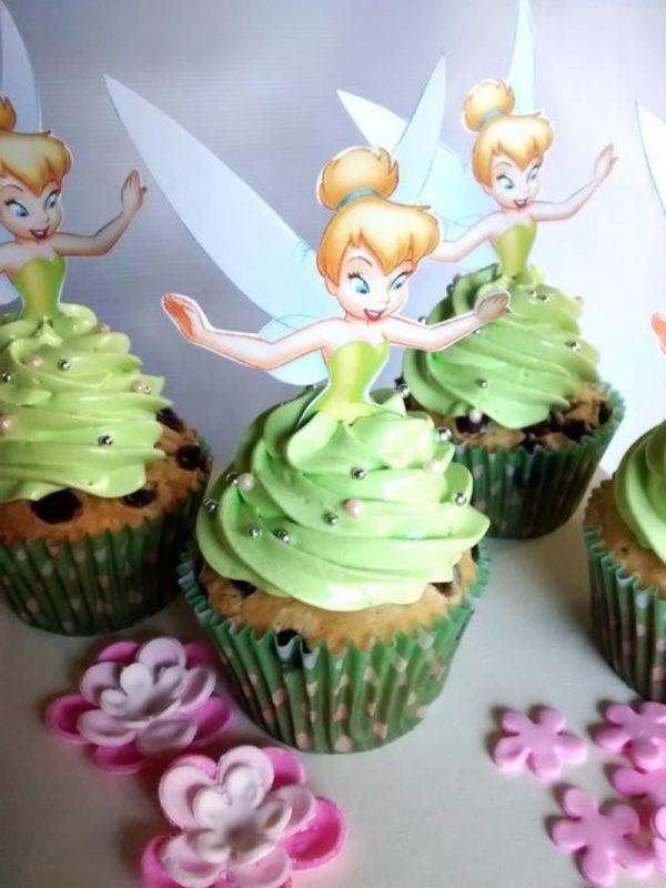 Cupcakes decorados da Sininho