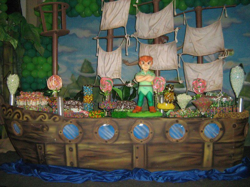 decoração de festa de aniversário do Peter Pan