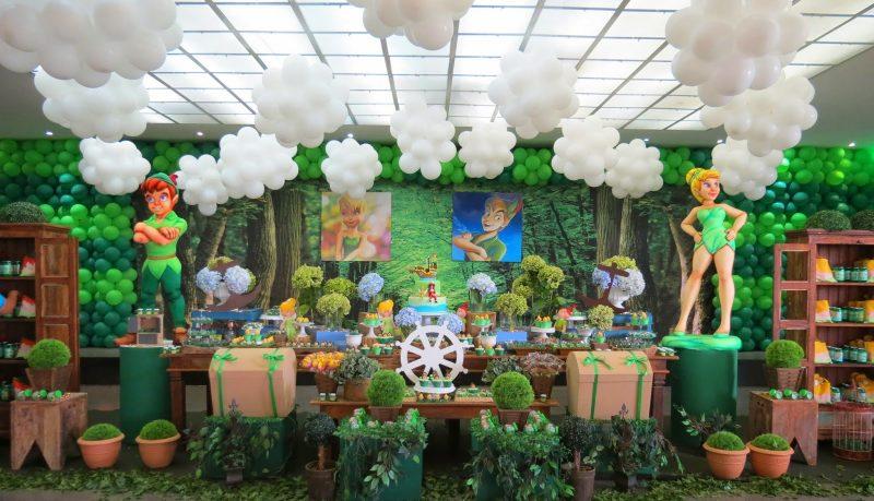 Decoração de aniversário sininho e turma do Peter Pan