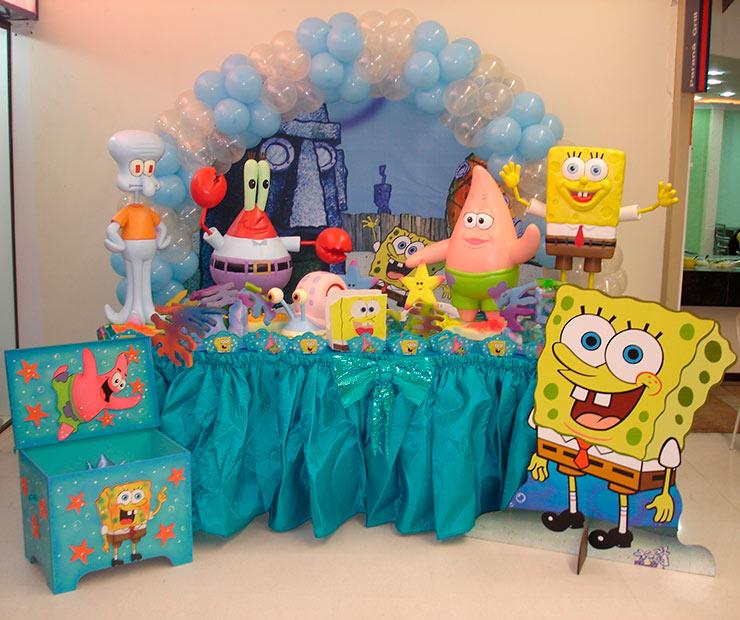 decoração de aniversário bob esponja