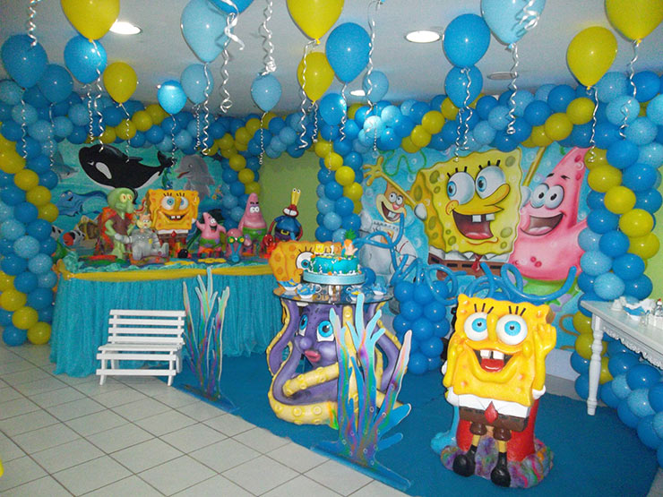 festa de aniversário do bob esponja