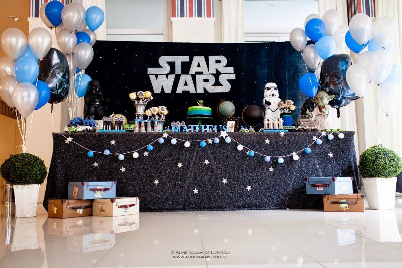 Decoração de festa de aniversário de star wars