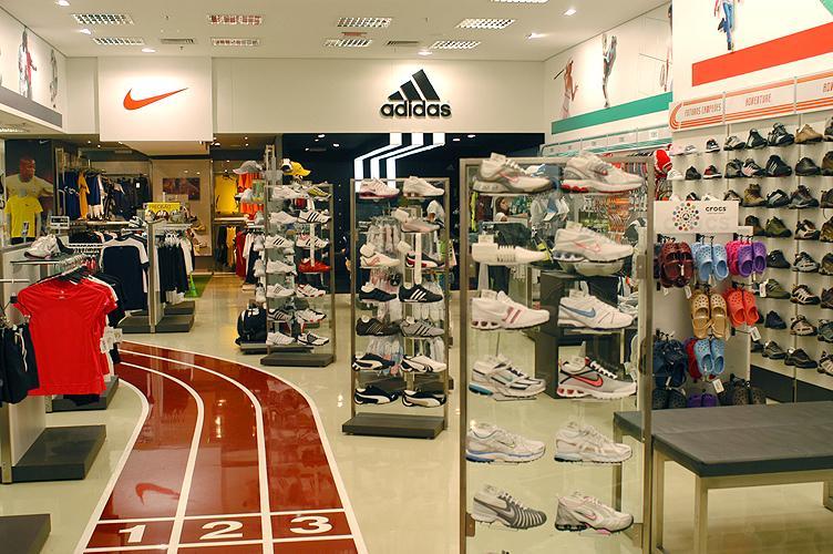 Decoração de loja de esportes