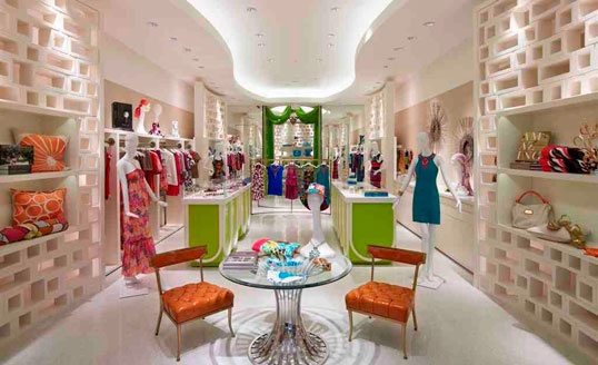 Decoração de Loja moderna e colorida