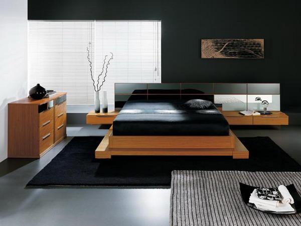Decoração moderna para quarto de solteiro amplo
