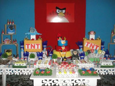 festa temática provençal angry birds decoração
