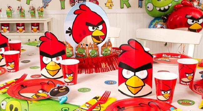 decoração angry birds para festa infantul