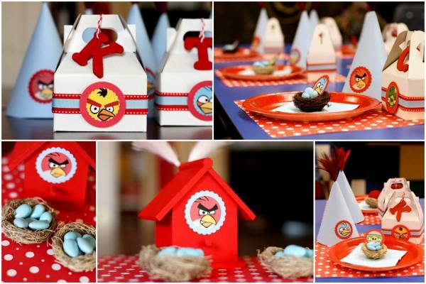 mesa dos convidados de Angry birds