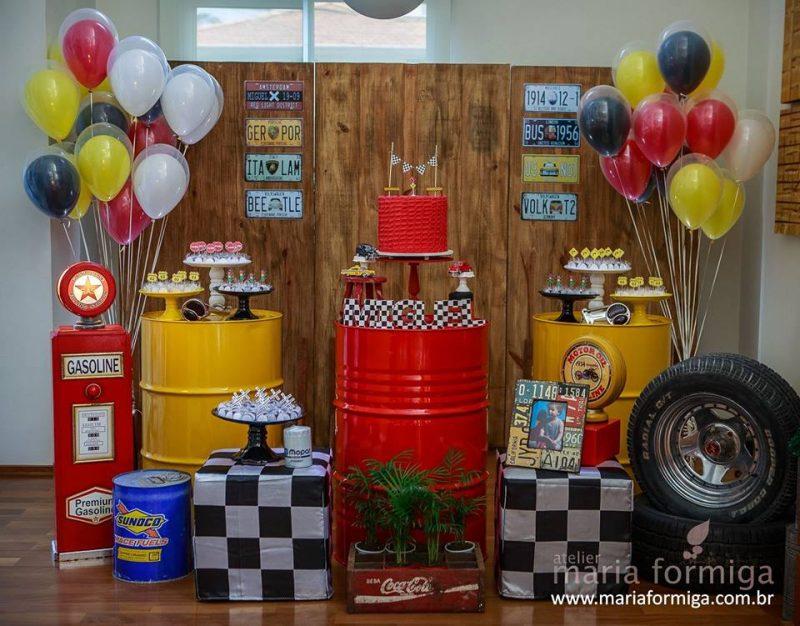 festa de aniversário com temática automotiva