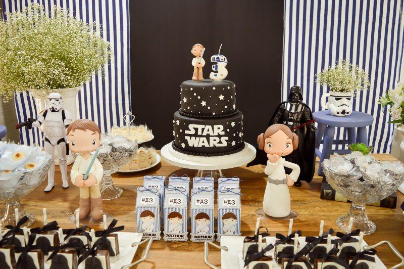 Decoração de festa infantil de star wars