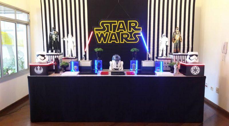 decoração festa provençal star wars