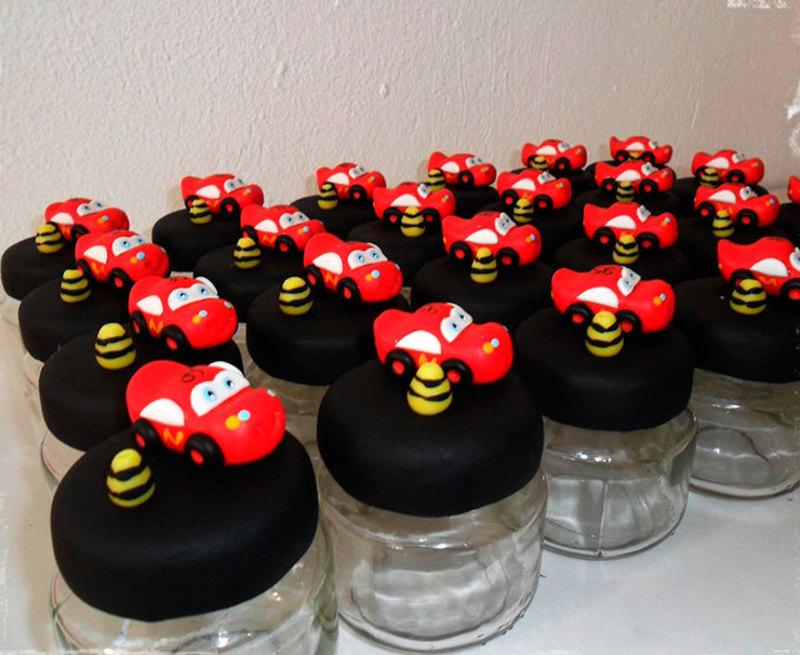 potinhos decorativo de lembrancinha de festa carros