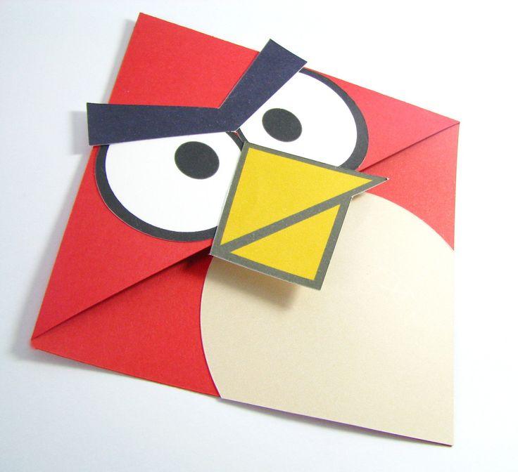 envelope de convite do angry birds