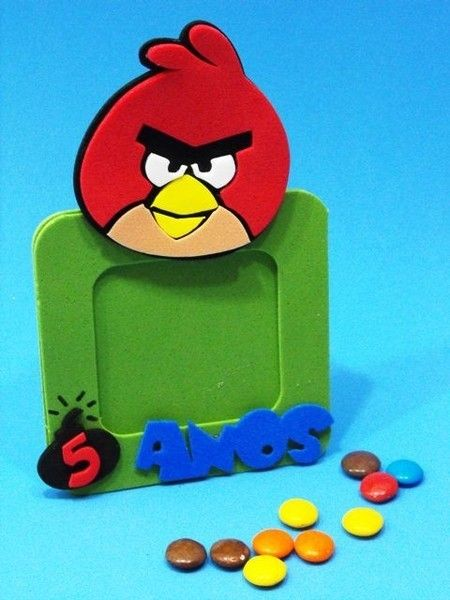 Porta Retratos decorativo dos Angry Birds