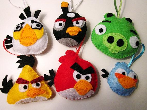 lembrancinha de festa de pano do angry birds