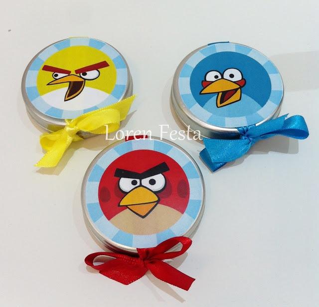 Lembrancinhas de aniversário dos Angry Birds