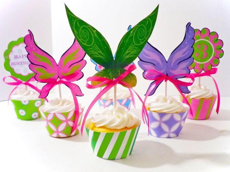 cupcakes decorados para festa da sininho