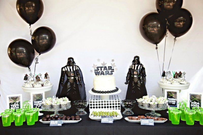 mesa de aniversário de star wars decorativa