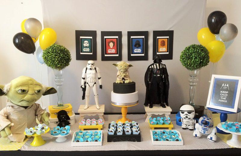 mesa decorativa de aniversário império star wars