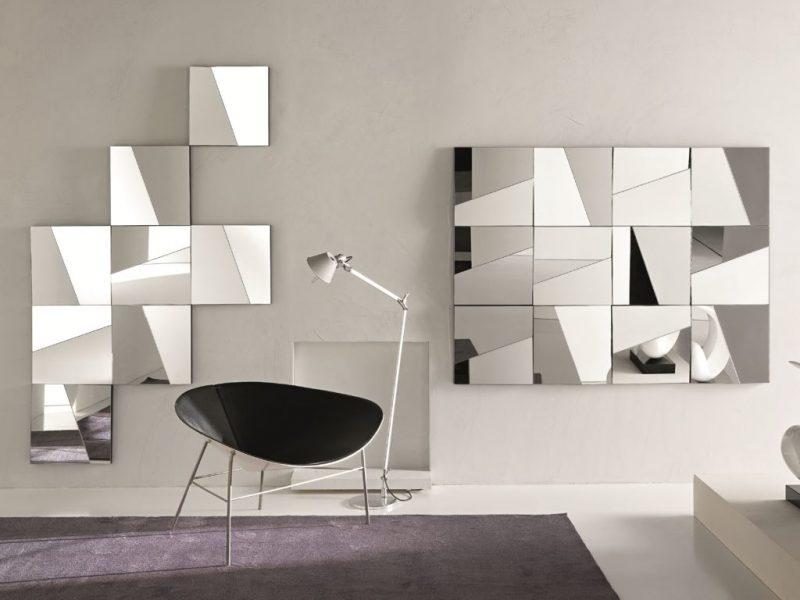Painéis de espelho na decoração de parede