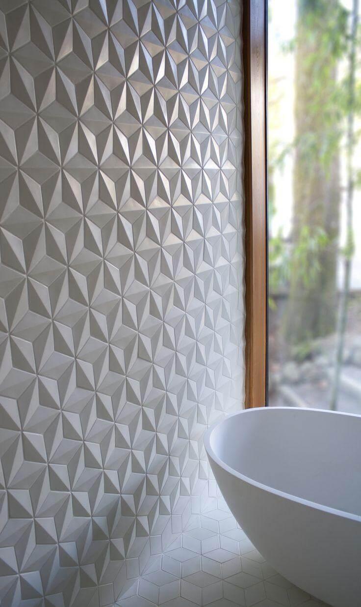 Revestimento de parede com textura estrelada