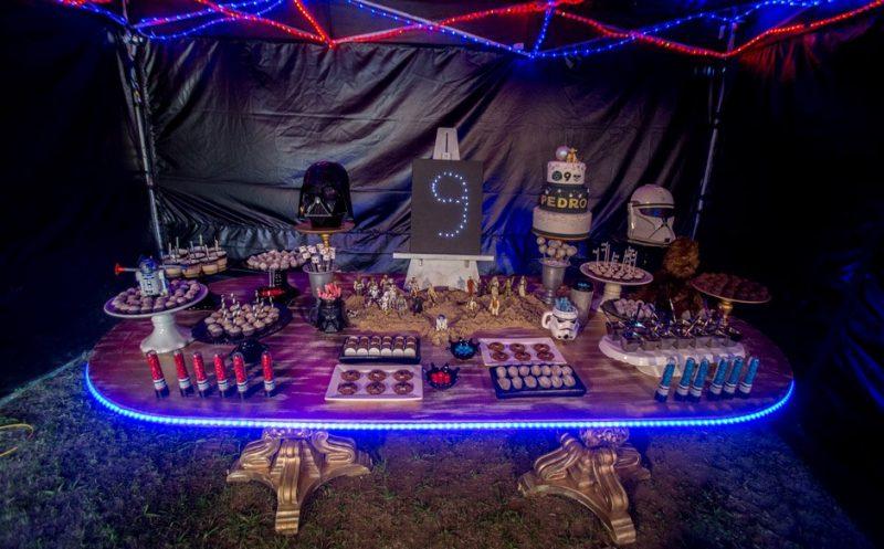 decoração de aniversário de star wars