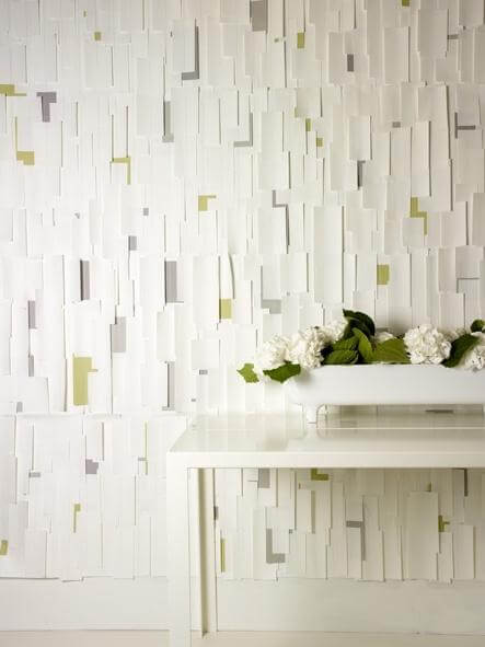 Textura irregular em parede da sala