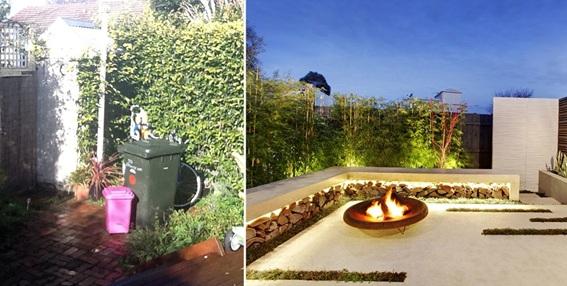 Antes e depois - projeto paisagístico