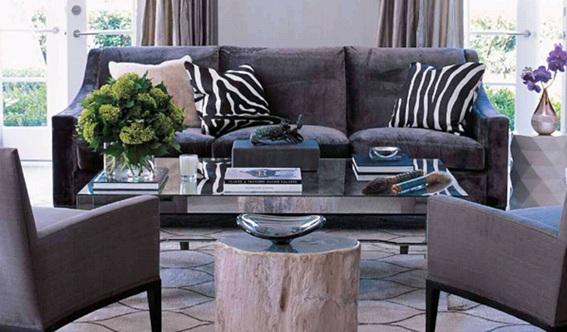 almofadas com estampa de zebra