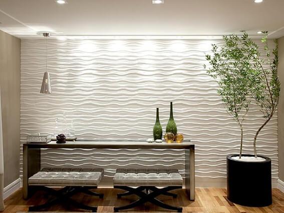 15 ideias de revestimentos de parede para sua casa - Paredes modernas para interiores ...