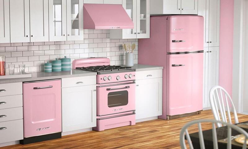 Cozinha Retro Rosa